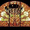 Artful Stained Glass Window Union Station Hotel Nashville Print by Susanne Van Hulst