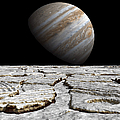 Artists Concept Of Jupiter As Seen Poster by Walter Myers