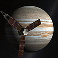 Artists Concept Of The Juno Spacecraft Poster by Stocktrek Images