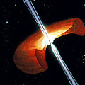 Artwork Showing A Mechanism For Gamma-ray Bursts Print by Nasa