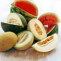 Assortment Of Melons Poster by David Munns