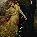 At The First Touch of Winter Summer Fades Away Print by Valentine Cameron Prinsep