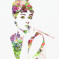 Audrey Hepburn 2 Poster by Irina  March