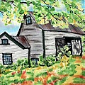 August Barn Print by Linda Marcille