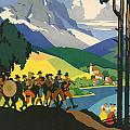 Austrian Alps Print by Nomad Art And  Design