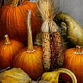 Autumn - Gourd - Pumpkins and Maize  Print by Mike Savad