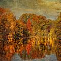 Autumn - Landscape - Tamaques Park - Autumn in Westfield NJ  Print by Mike Savad