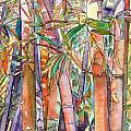 Autumn Bamboo Print by Marionette Taboniar