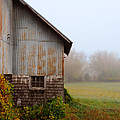 Autumn Barn Print by Jill Battaglia