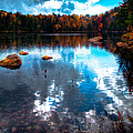 Autumn on Cary Lake Poster by David Patterson