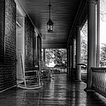 Avenel Front Porch - BW Poster by Steve Hurt