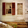 Back Door of Old Farmhouse Print by Jill Battaglia