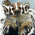 Badger - Guardian of the South Poster by J W Baker