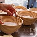 Baker Hands and Wooden Bowls Poster by Jorge Malo