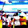 Balinese Beach Funeral  Print by Funkpix Photo Hunter