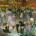 Ball on the 14th July Print by Theophile Alexandre Steinlen