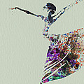 Ballerina dancing watercolor Print by Irina  March