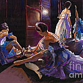 Ballet Behind the Scenes Print by Yuriy  Shevchuk