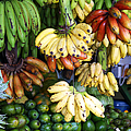 Banana display. Poster by Jane Rix