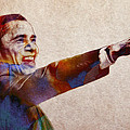 Barack Obama Watercolor Print by Stefan Kuhn