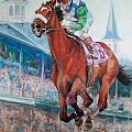 Barbaro - Horse of the Nation Print by Leisa Temple