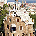 Barcelona Parc Guell Print by Matthias Hauser