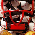 Baseball catchers mask and balls Poster by Garry Gay