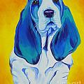 Basset - Ol' Blue Poster by Alicia VanNoy Call