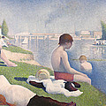 Bathers at Asnieres Print by Georges Pierre Seurat