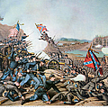 BATTLE OF FRANKLIN, 1864 Print by Granger