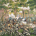 Battle of the Wilderness May 1864 Print by American School