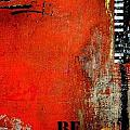 Be on Orange abstract Print by Anahi DeCanio