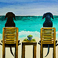 Beach Bums Print by Roger Wedegis