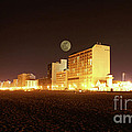 Beach full moon   Poster by Christopher  Ward