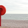 Beach In Budleigh Salterton Print by thenakedsnail