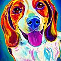Beagle - Lucy Print by Alicia VanNoy Call