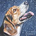 Beagle in snow Poster by L AShepard