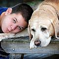 Bear and His Boy Print by Terry Kirkland Cook
