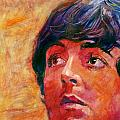 Beatle Paul Poster by David Lloyd Glover
