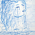 Beautiful Sea Woman watercolor painting Print by Georgeta  Blanaru