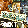 Bedlam, Boris Karloff, Anna Lee, 1946 Poster by Everett