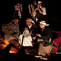 Bedouin Men Sing And Play Instruments Print by Taylor S. Kennedy