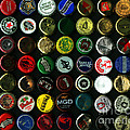 Beer Bottle Caps . 8 to 10 Proportion Poster by Wingsdomain Art and Photography