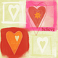 Believe In Love Print by Linda Woods