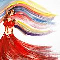 Belly Dancer 2 Print by Julie Lueders