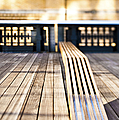 Benches at The High Line Park Print by Eddy Joaquim