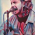 Betterman Eddie Vedder Print by Derek Donnelly