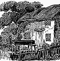 BEWICK: RURAL HOUSE Print by Granger