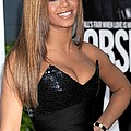 Beyonce Knowles Wearing A Balmain Dress Poster by Everett