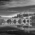 Beziers Cathedral Print by Photograph by Paul Atkinson